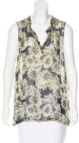 L'Agence Silk Floral Top