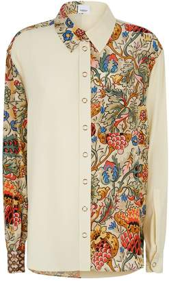 Burberry Floral Print Silk Shirt
