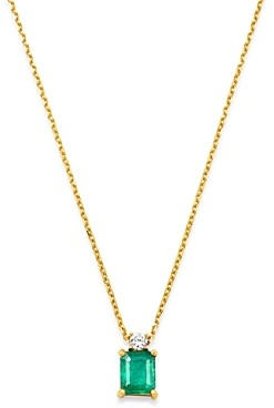 Bloomingdale's Emerald & Diamond Pendant Necklace in 14K Yellow Gold, 16 - 100% Exclusive