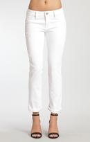 Mavi Jeans Emma Slim Boyfriend In White Ripped Tribeca