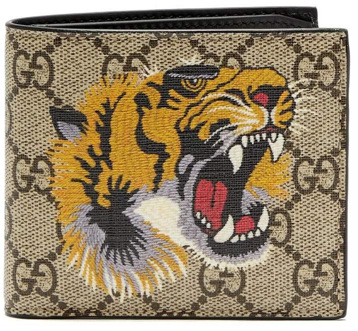Gucci GG Supreme tiger-print canvas wallet