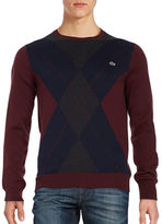Lacoste Argyle Cotton Crewneck Sweater