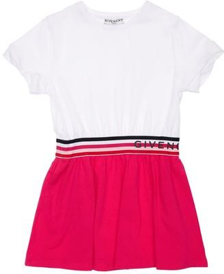 Givenchy Cotton Jersey Dress W/ Logo Band