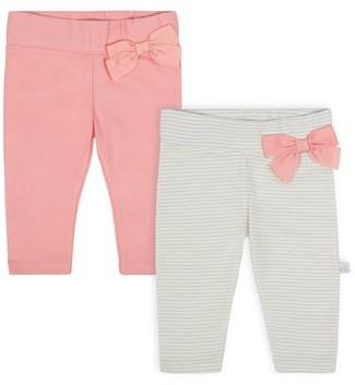 Just Born Organic Baby Girl 2-pack Slim Pants