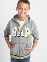 Shadow logo fleece zip hoodie