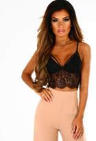 Pink Boutique Monaco Black Lace Sheer Bralet