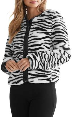 Bailey 44 Sullivan Zebra-Stripe Faux Fur Jacket - 100% Exclusive