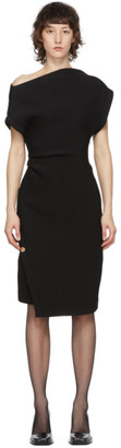 Proenza Schouler Black Twisted Off-The-Shoulder Dress