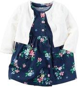 Carter's 2 Piece Floral Dress Set - Navy - Newborn