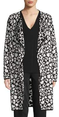 Vince Camuto Cheetah-Print Open-Front Cardigan