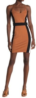 Bailey Blue Colorblock Bodycon Mini Dress
