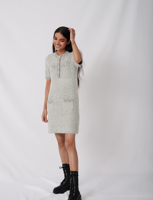Maje Lurex dress with fancy buttons