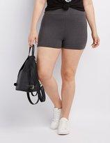 Charlotte Russe Plus Size High-Rise Bike Shorts