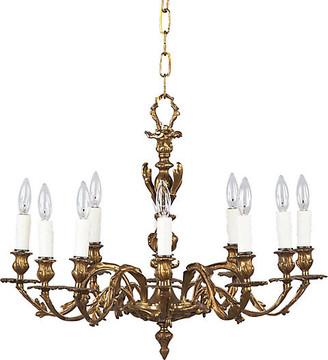 One Kings Lane Vintage Louis XV Style Rococo Bronze Chandelier - Negrel Antiques