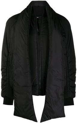 MSGM Padded Scarf-Detail Jacket