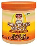 African Pride Shea Butter Miracle Leave-In Conditioner 15oz Jar (2 Pack) by