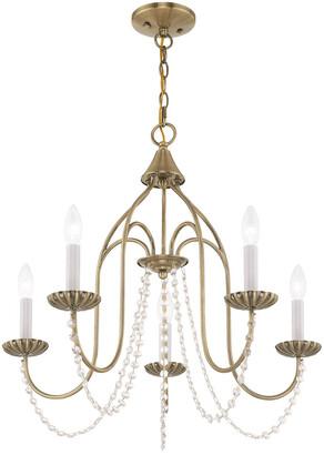 Livex Lighting Livex Alessia 5 Light Antique Brass Chandelier