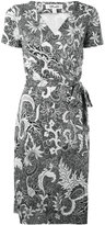 Diane von Furstenberg floral pattern wrap dress - women - Silk - 10