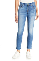 Frame Le Garcon Cuffed Mid-Rise Skinny Jeans