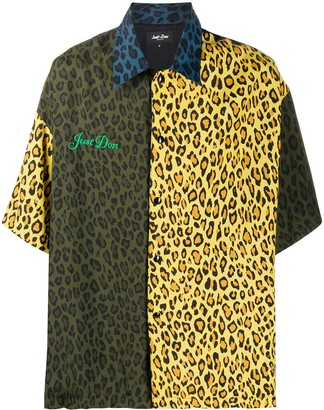 Just Don Leopard-Print Shirt