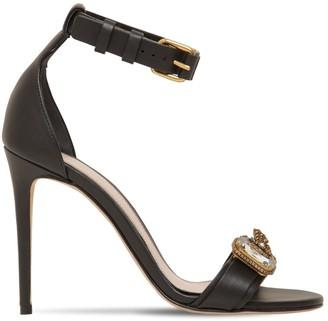 Alexander McQueen 105mm Embellished Leather Sandals