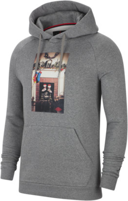 Jordan Jumpman Chimney Hoodie Sweatshirt - Carbon Heather / Black