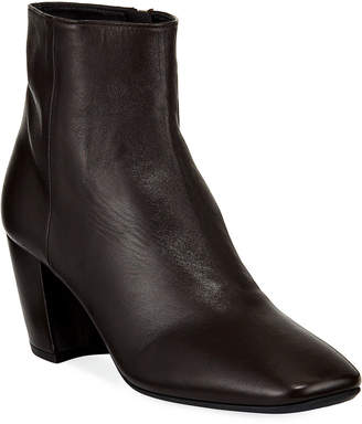 Prada Smooth Leather Block-Heel Booties