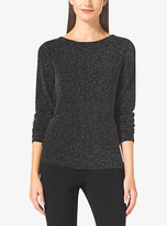 Michael Kors Metallic Cowl-Back Top Petites
