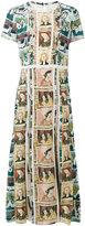Burberry Framed Heads and Reclining Figures print dress - women - Polyester/Mulberry Silk - 10
