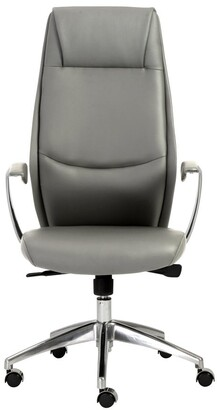 Euro Style Crosby Grey/ Aluminum High Back Office Chair