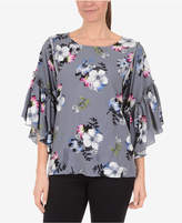 NY Collection Ruffled-Sleeve Top
