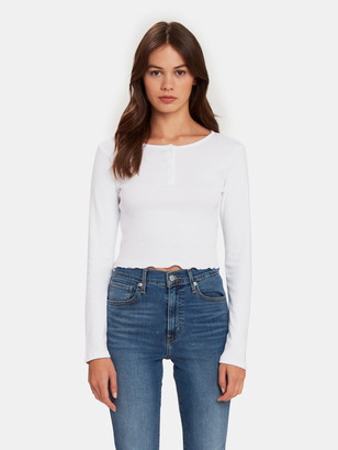x karla The Crop Lettuce Trim Henley