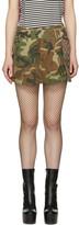 Marc Jacobs - Mini-jupe verte Camo Ca