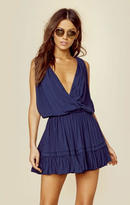 Indah balmy solid crossfront dress