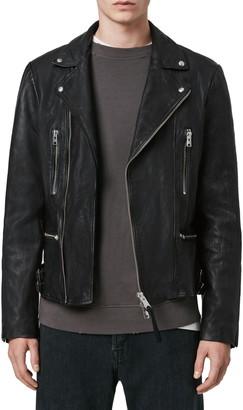 AllSaints Mazo Slim Fit Leather Biker Jacket