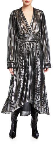 IRO Eureka Metallic Stripe Long Dress