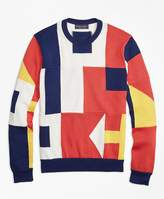 Brooks Brothers Supima® Cotton Signal Flag Crewneck Sweater