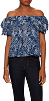 Timo Weiland Silk Off The Shoulder Top