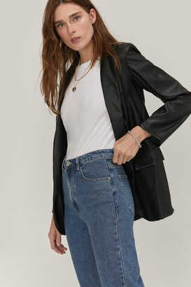 Nasty Gal Womens Don't Forget To Say High Waisted Mom Jeans - Blue - XL