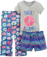 Carter's Girls 4-14 3-pc. Pajama Set