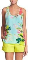 Trina Turk Women's 'Detra' Floral Print Silk Top