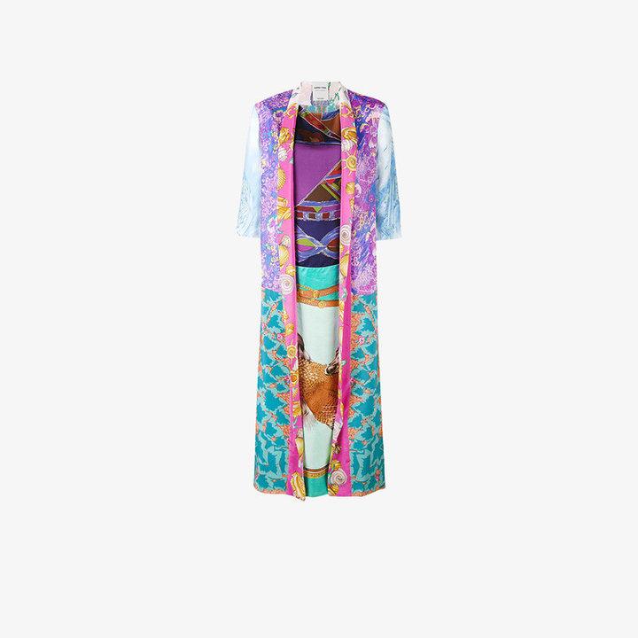Rianna + Nina Shell print kimono style kaftan