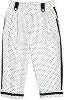 Dolce & Gabbana Polka Dots Print Stretch Cotton Pants