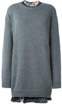 No.21 jeweled collar sweater dress