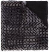 Salvatore Ferragamo logo print scarf