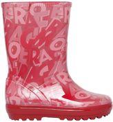 Salvatore Ferragamo Letters Printed Rubber Rain Boots