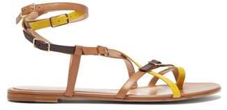 Gianvito Rossi Cassandra Multi-strap Leather Sandals - Womens - Yellow Multi