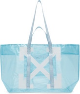 Off-White Off White Blue and White Arrows Tote