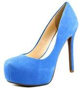 Jessica Simpson Rebeca Women Open Toe Suede Blue Platform Heel.