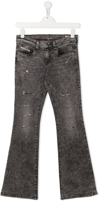 Diesel Flared Stonewashed Jeans
